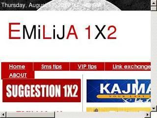 Screenshot of emilija1x2.com