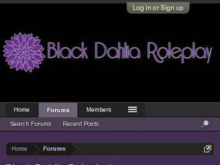 Screenshot of Black Dahlia Roleplaying