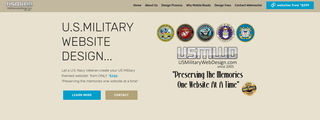 Screenshot of US Miltary Web Design