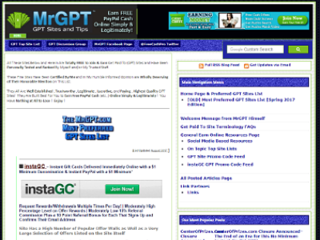 Screenshot of The Famous MrGPT Sites and Tips Site!
