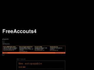 Screenshot of FreeAccounts4