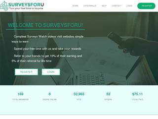 Screenshot of surveysforu