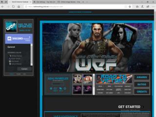 Screenshot of WEF Wrestling