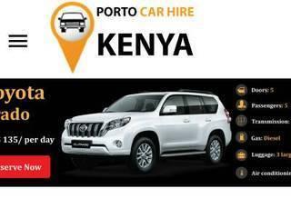 Screenshot of Porto Car Hire Kenya | Car Rental Kenya | Rent Car Kenya
