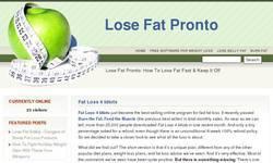 Screenshot of Exclusive Free Bonuses at Lose Fat Pronto