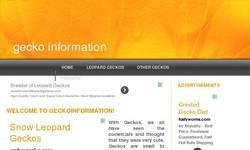 Screenshot of Gecko Information