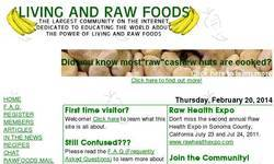 Screenshot of Living and Raw Foods