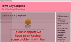 Screenshot of soy supplies