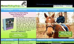 Screenshot of Horse Riding Help - A Guide to horseback riding. Ride horses without lessons