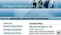 Screenshot of Cottage Chic Boutiques