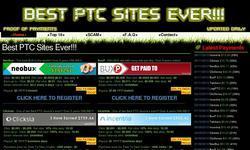 Screenshot of BEST PTC SITES EVER!!!