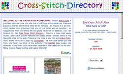 Screenshot of Cross-Stitch-Directory