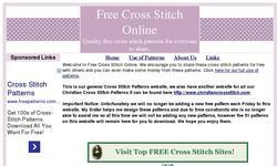 Screenshot of Free Cross Stitch Online