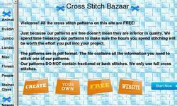 Screenshot of Cross Stitch Bazaar