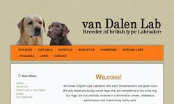 Screenshot of van Dalen Labradors