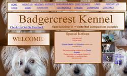 Screenshot of Badgercrest Kennel