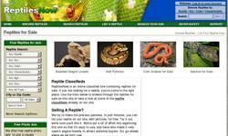 Screenshot of reptilesnow