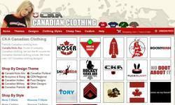 Screenshot of CKA Canadian Clothing