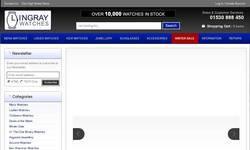 Screenshot of Lingray Watches, Gucci & Rado watch retailer