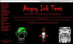 Screenshot of angry ink tees