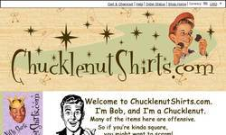 Screenshot of Chucklenut Shirts