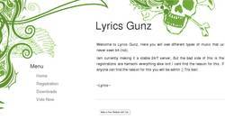 Screenshot of Lyrics Gunz