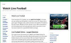 Screenshot of Soccer Streaming