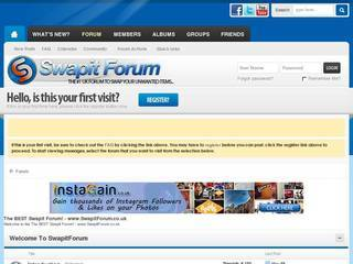 Screenshot of The BEST Swapit Forum - SwapitForum.co.uk
