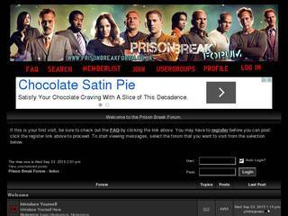 Screenshot of Prison Break Forum