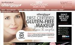 Screenshot of AfterGlow Cosmetics